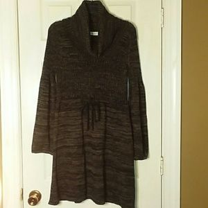 Calvin Klein Marbled Cowl-Neck Sweater Dress Largs